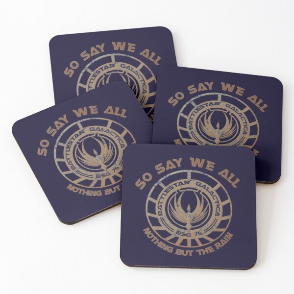 Nothing But The Rain  Coasters (Set of 4)