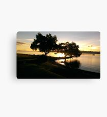 Lake on a Spring Evening Canvas Print