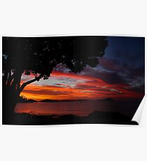 Sunset - New Zealand Poster