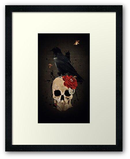 Nevermore - Crow Digital Painting by Amanda Jeffrey by Amanda Jeffrey
