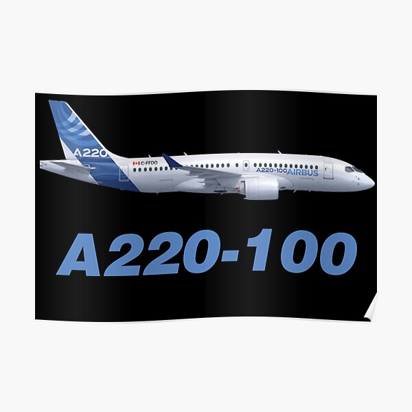 Airbus A220-100 Poster