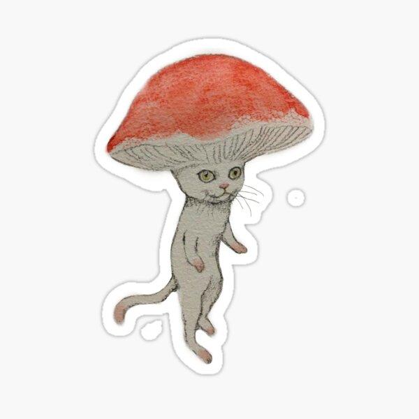 CHAT CHAMPIGNON Sticker