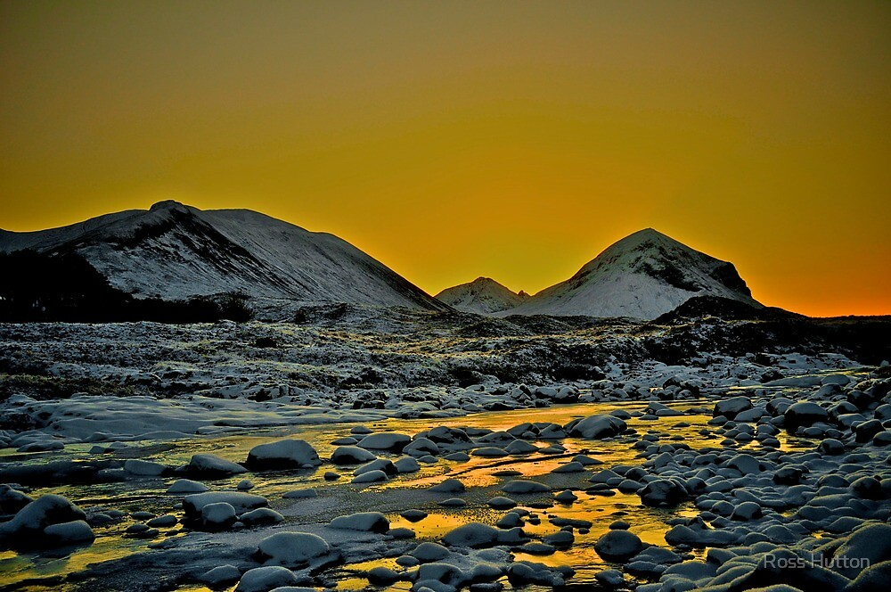 Winter Landscape of Marsco, Isle of Skye, Scotland.  by Ross Hutton