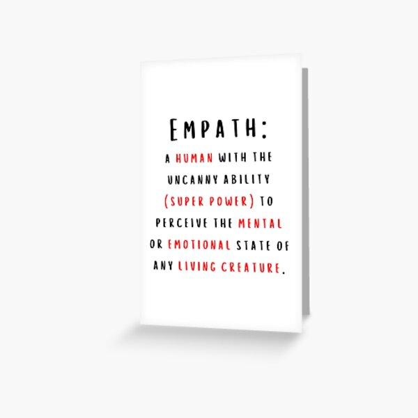 Empath Definition Greeting Card