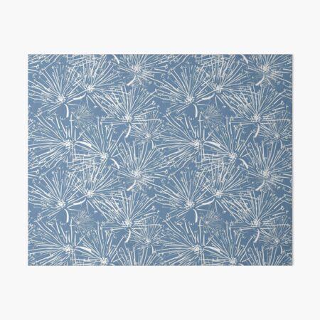 White Dandelion on Blue Art Board Print