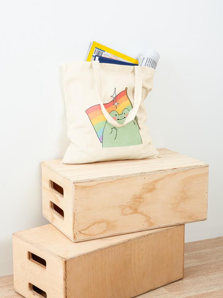 Alternate view of Gay Pride Frog Tote Bag