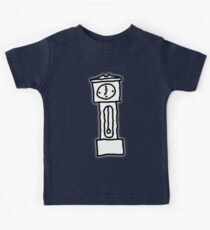 Cartoon Grandfather Clock [Big] Kids Tee