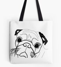 Afraid puggy Tote Bag