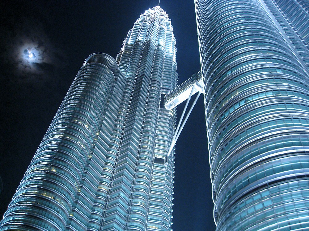 Petronas Twins towering above by Meg Blake