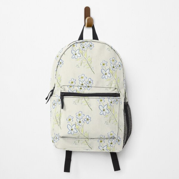 Digital Watercolour Forget-Me-Nots Backpack
