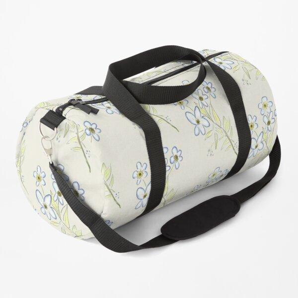 Digital Watercolour Forget-Me-Nots Duffle Bag