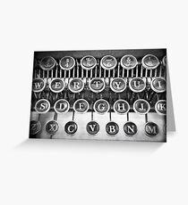 Vintage Typewriter Greeting Card