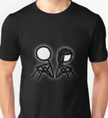 Cartoon Silhouetted Couple [Big] Unisex T-Shirt
