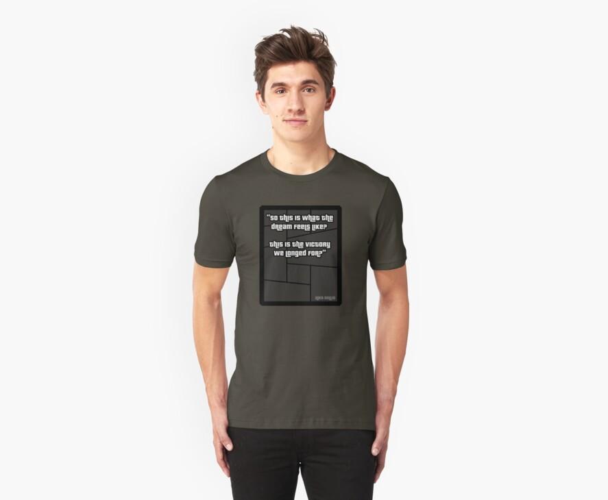 GTA 4 Niko Bellic Quote T Shirt by PixelRider
