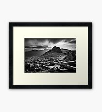 Castle of the Winds, Glyder Fach, Snowdonia. Framed Print