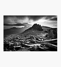Castle of the Winds, Glyder Fach, Snowdonia. Photographic Print
