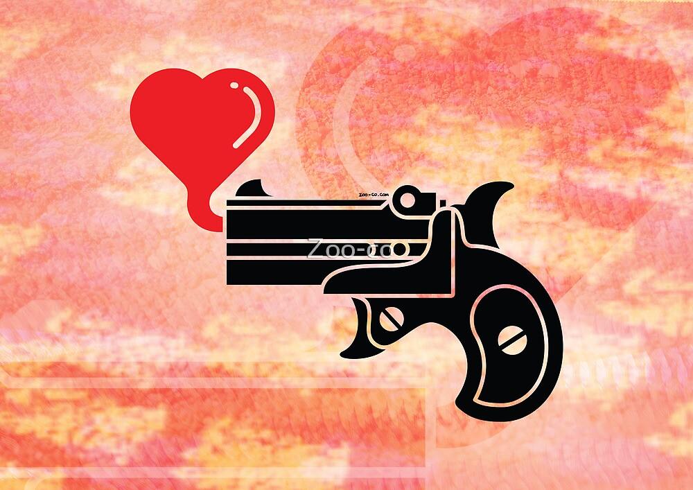 Pistol Blowing Heart Bubbles by Zoo-co