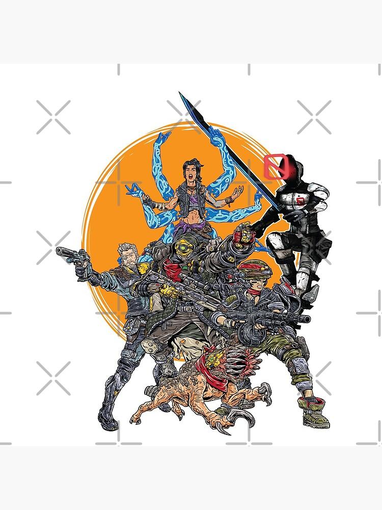 Borderlands 3  FL4K Beastmaster Amara Siren Moze Gunner Zane Operative Zer0 Assassin Guard Skag Operative by ProjectX23