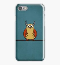 Funny Cartoon Horned Owl Case iPhone Case/Skin