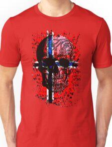 Skull circuit (norway-flag) Unisex T-Shirt