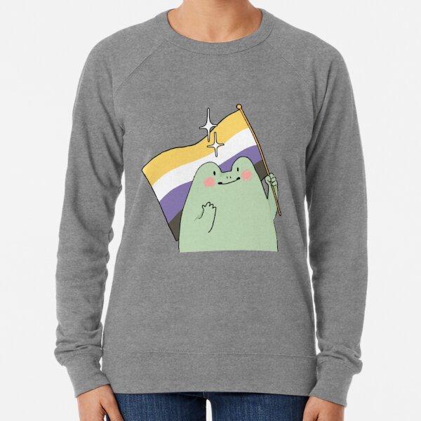 Non Binary Pride Frog Lightweight Sweatshirt