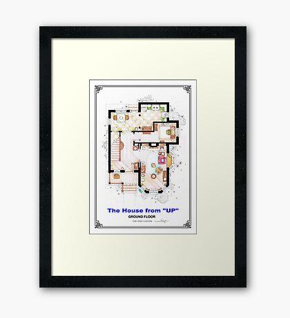 The House from UP - Ground Floor Floorplan Framed Print