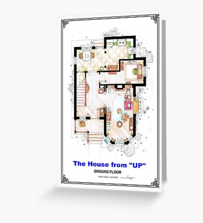 The House from UP - Ground Floor Floorplan Greeting Card