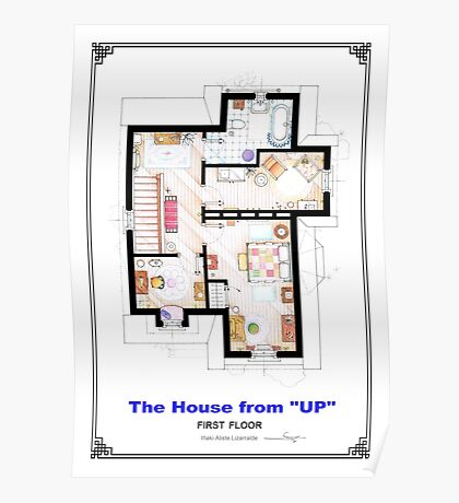 The House from UP - First Floor Floorplan Poster
