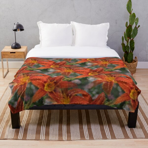 Cubist Lilies Throw Blanket