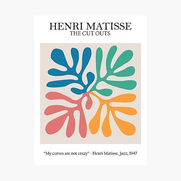 Henri Matisse - Die Ausschnitte - Meine Kurven sind nicht verrückt Fotodruck