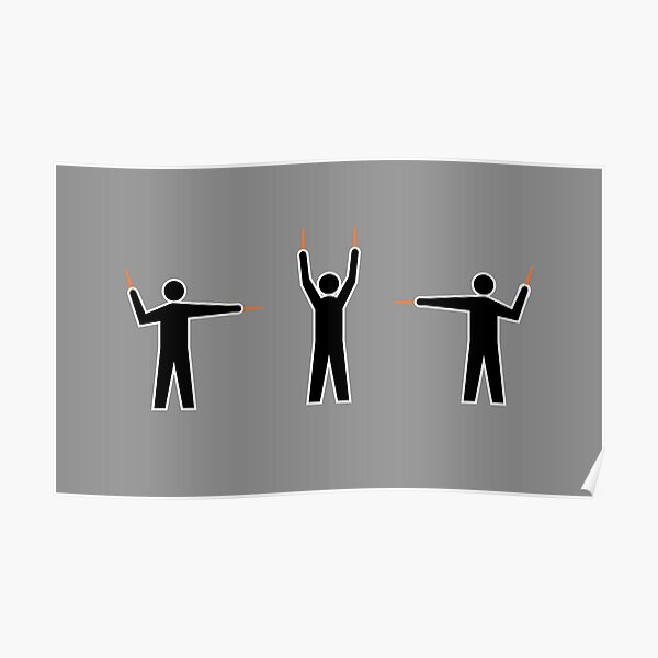 Airplane Marshallers Poster