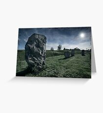 Avebury by Moonlight Greeting Card