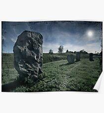 Avebury by Moonlight Poster
