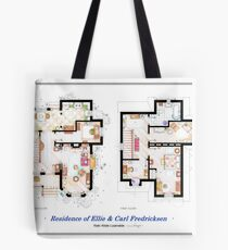 "Floorplan of the House from ""UP"" Tote Bag"