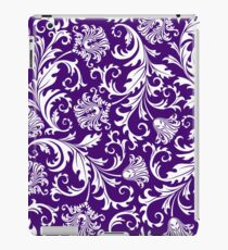 Purple And White Vintage Floral Damasks iPad Case/Skin