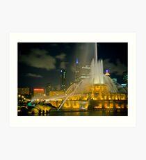 Chicago's Buckingham Fountain Art Print