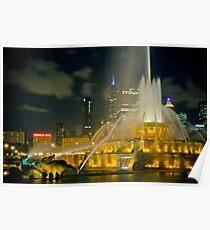 Chicago's Buckingham Fountain Poster