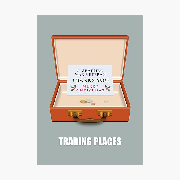 Trading Places - Alternative Movie Poster Photographic Print