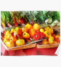 Vegetables - Peppers at Farmers Market Poster