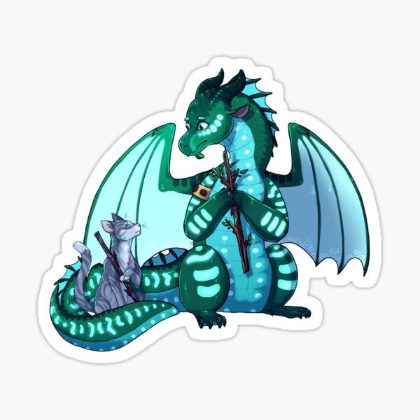 Wings of Fire & Warriors - Turtle and Jayfeather - Stick Bois Sticker