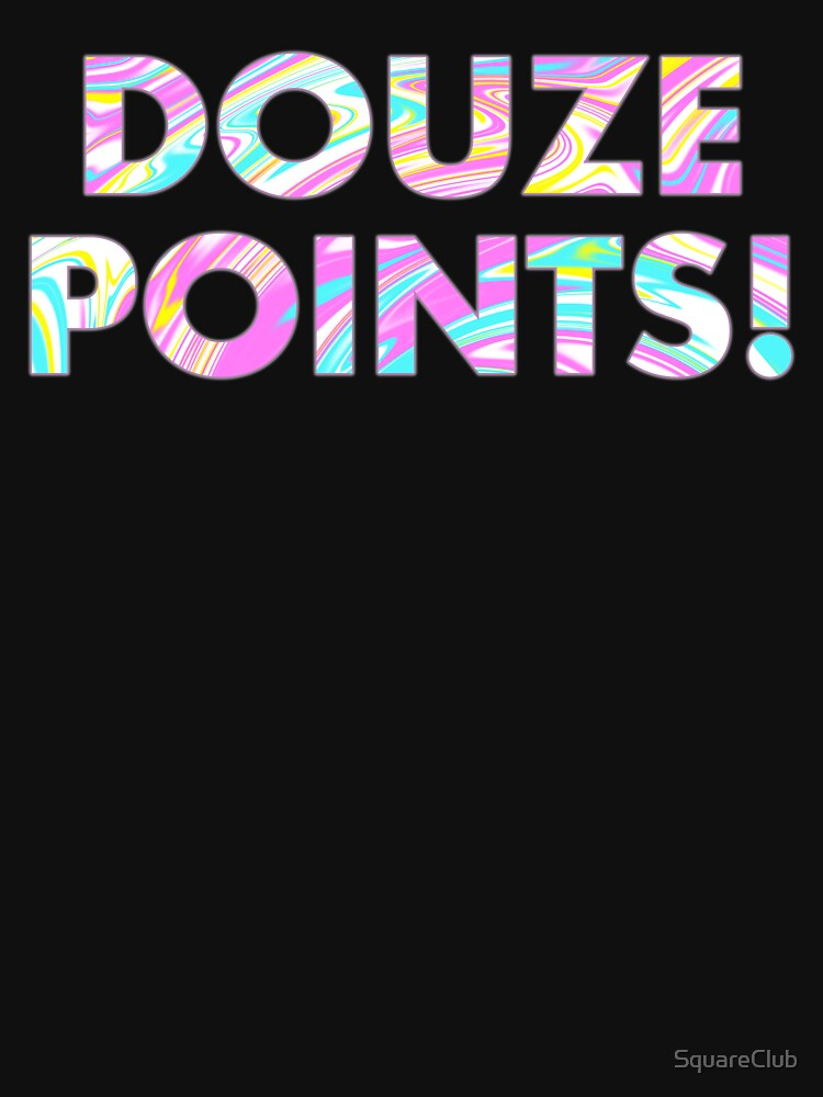 DOUZE POINTS In Paint Marble by SquareClub