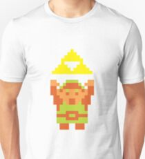 Pixel Link With A Triforce T-Shirt