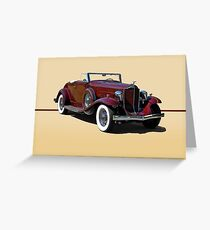 1932 Packard 900 Convertible Coupe w/o ID Greeting Card