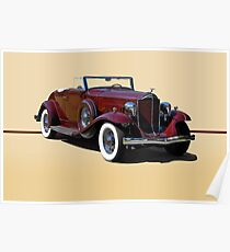 1932 Packard 900 Convertible Coupe w/o ID Poster