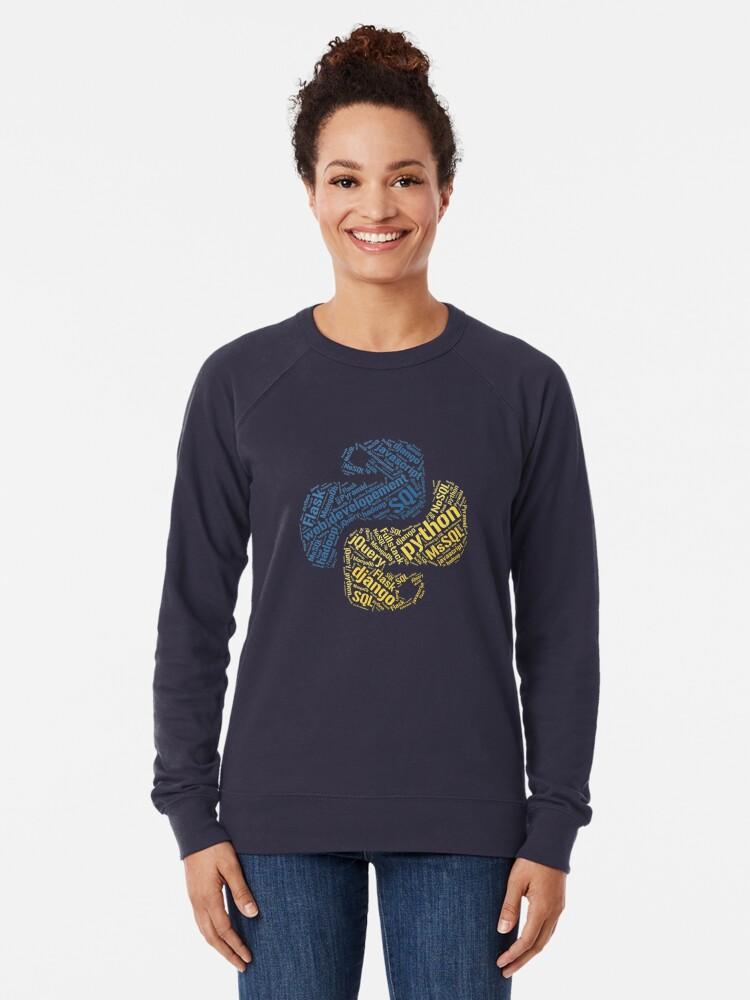 Vista alternativa de Sudadera ligera Camiseta y sudadera con capucha de Python Programmer
