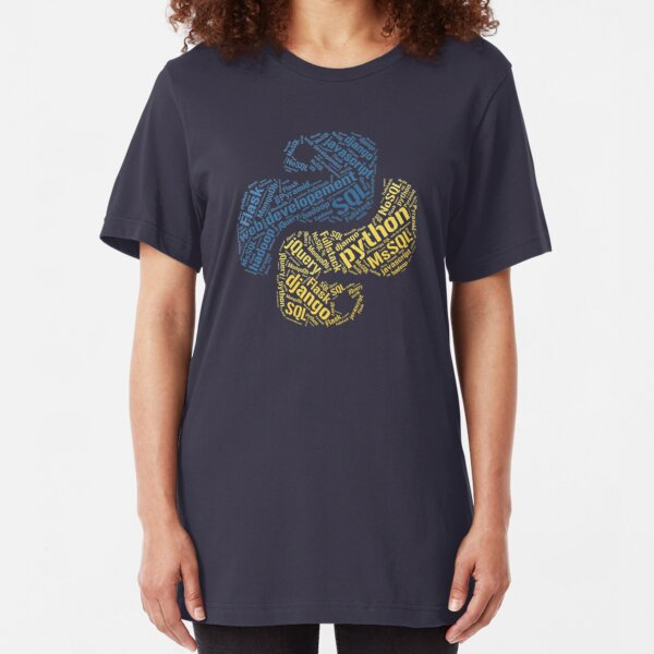 Python Programmer T-shirt & Hoodie Slim Fit T-Shirt