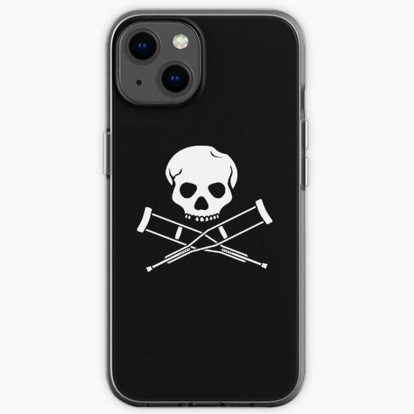 Kreuzkrücken und Schädel (weiß) iPhone Flexible Hülle