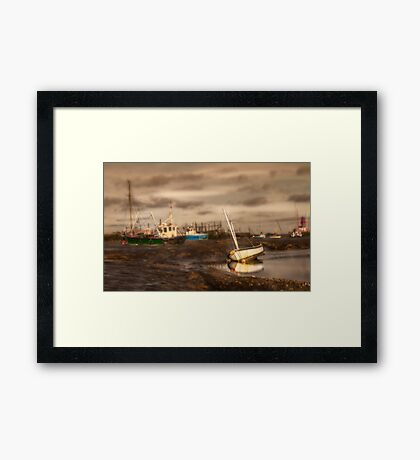 Boats waiting for the tide Framed Print