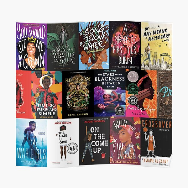 Support Black Authors YA Book Covers Poster