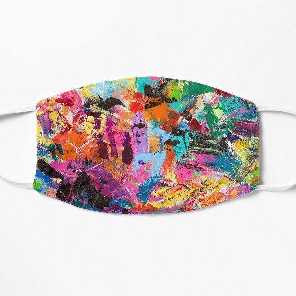 New Life Abstract - Up Close Flat Mask